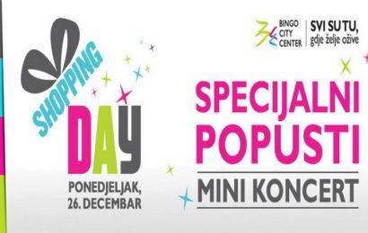 Danas 26. decembra, Bingo City Center za svoje kupce priređuje dan savršene kupovine i odlične zabave