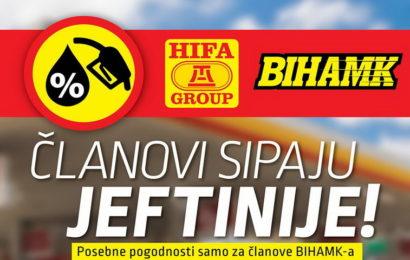 Niže cijene goriva za članove BIHAMK-a na HIFA benzinskim pumpama