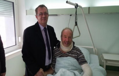Ministar Fišo posjetio povratnika Fadila Bašića