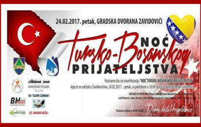 """Zavidovići: Održana 4. manifestacija """"Noć tursko-bosanskog prijateljstva"""""""