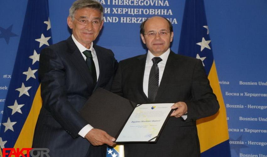 Svečanost u Sarajevu: Državna nagrada za sport uručena Bogdanu Tanjeviću