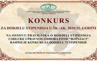 """Fond """"Bošnjaci"""" raspisao konkurs za dodjelu stipendija"""
